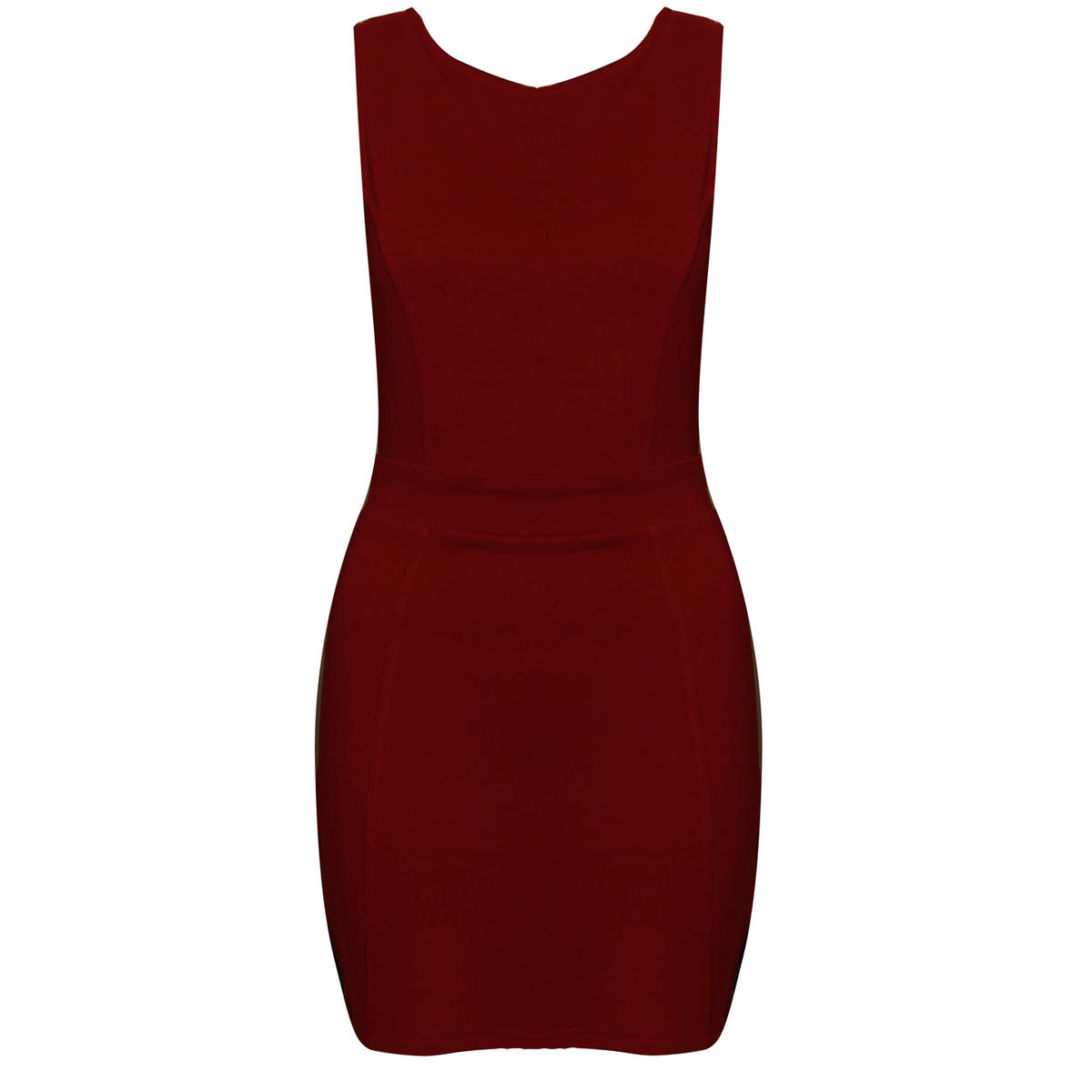 Wine Cut back Bodycon Dress Preview